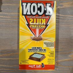D-Con Mouse Rat Bait Poison 4 - 3oz Trays Discontinued Pelle