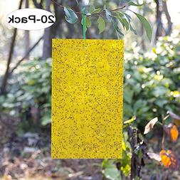 Kensizer 20-Pack Dual-Sided Yellow Sticky Traps for Flying P