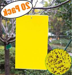 20 Count Dual Yellow Sticky Traps 8 X 6 Inch Set for Flying
