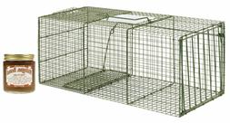 Duke HD Model 1114 Std 1 Door Cage Trap Pkg w Milligans Tutt