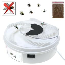 Electric Fly Trap Device w/ Trapping Food White USB Cable US