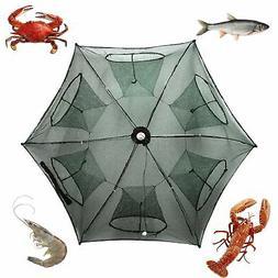Noa Store New Fishing Bait Foldable Net Trap Cast Dip Cage C