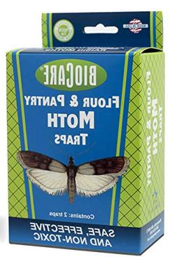BioCare Flour and Pantry Moth Traps with Pheromone Lures, No