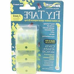 Rescue Fly Tape 3 Pack Optical Response Fly Trap Odor Free