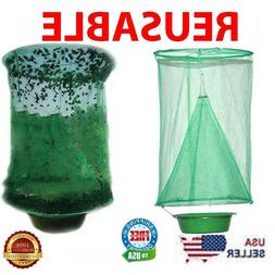 Fly Trap Ranch Reusable Catcher Killer Cage Net Pest Bug Cat