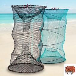 Foldable Crab Shrimp Fish Trap Net Catcher Minnow Crawfish S
