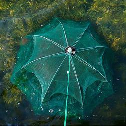 Foldable Fishing Bait Trap Crab Net Crawdad Shrimp Cast Dip