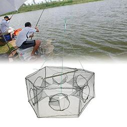 Lixada Collapsible Mesh Fishing Cage,Hexagon 6 Hole Shrimp C