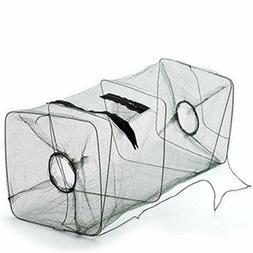 Foldable Fishing Net Trap and Fish Minnow Trap