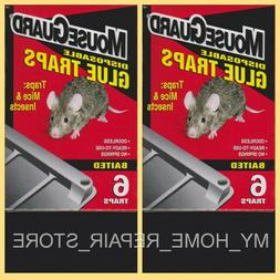 MOUSE GUARD GLUE TRAPS 2 BOXES OF 6 INSECTICIDE FREE BAITED