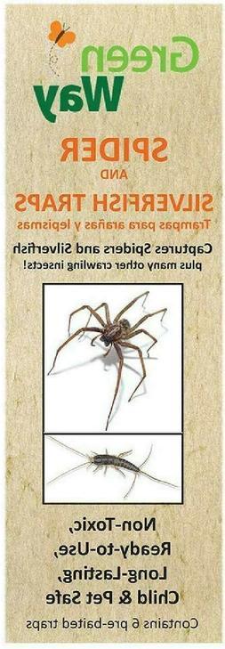 GreenWay Spider & Silverfish Trap - 6 prebaited traps | Read