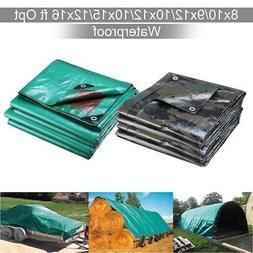 Heavy Duty Poly Tarp Camouflage Waterproof Canopy Outdoor Su