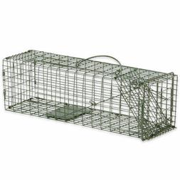 Humane Animal Trap 16x5x5 Steel Cage Live Rodent Control Squ