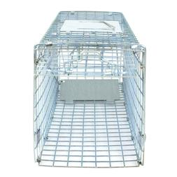 Humane Animal Trap 24'' Steel Cage for Small Live Rodent Con