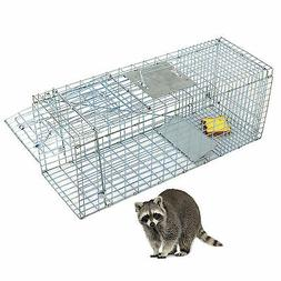 Humane Animal Trap 32x12x12 Steel Cage Live Rodent Control S