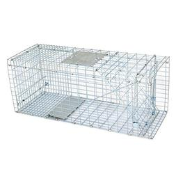 "HomGarden Humane Live Animal Cage Trap 32"" X 12.5"" X 12"" Ste"
