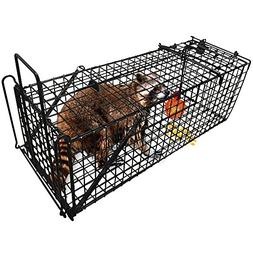 "Humane Live Animal Trap 31""X10.5""X11.5"" Catch Release Cage f"