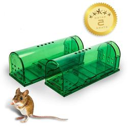Humane Mouse Traps - Set of 2 - Harmless Live Catch and Rele