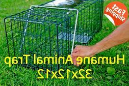 Animal Raccoon Trap 32 x 12 x 12 Humane Farms Cage Rabbit Ca