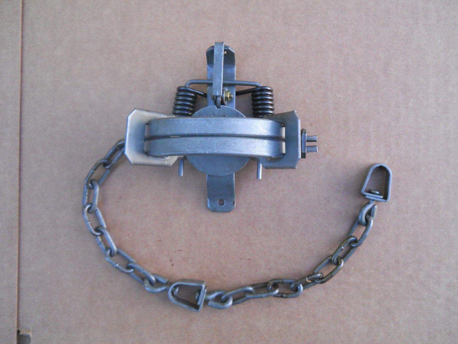 12 1.5 Coil Spring Traps, Montgomery Coon, Mink, Fox,