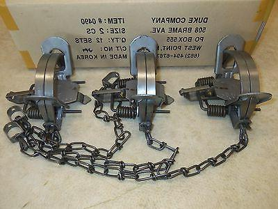 3 2 coil spring traps 0490 coyote