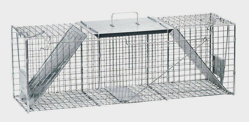 2 door live animal cage