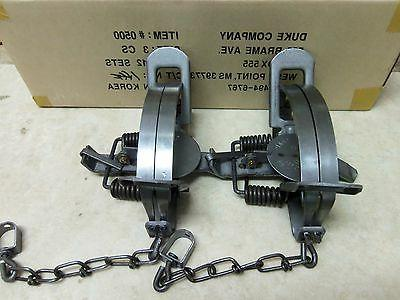 2 new 3 coil spring traps 0500