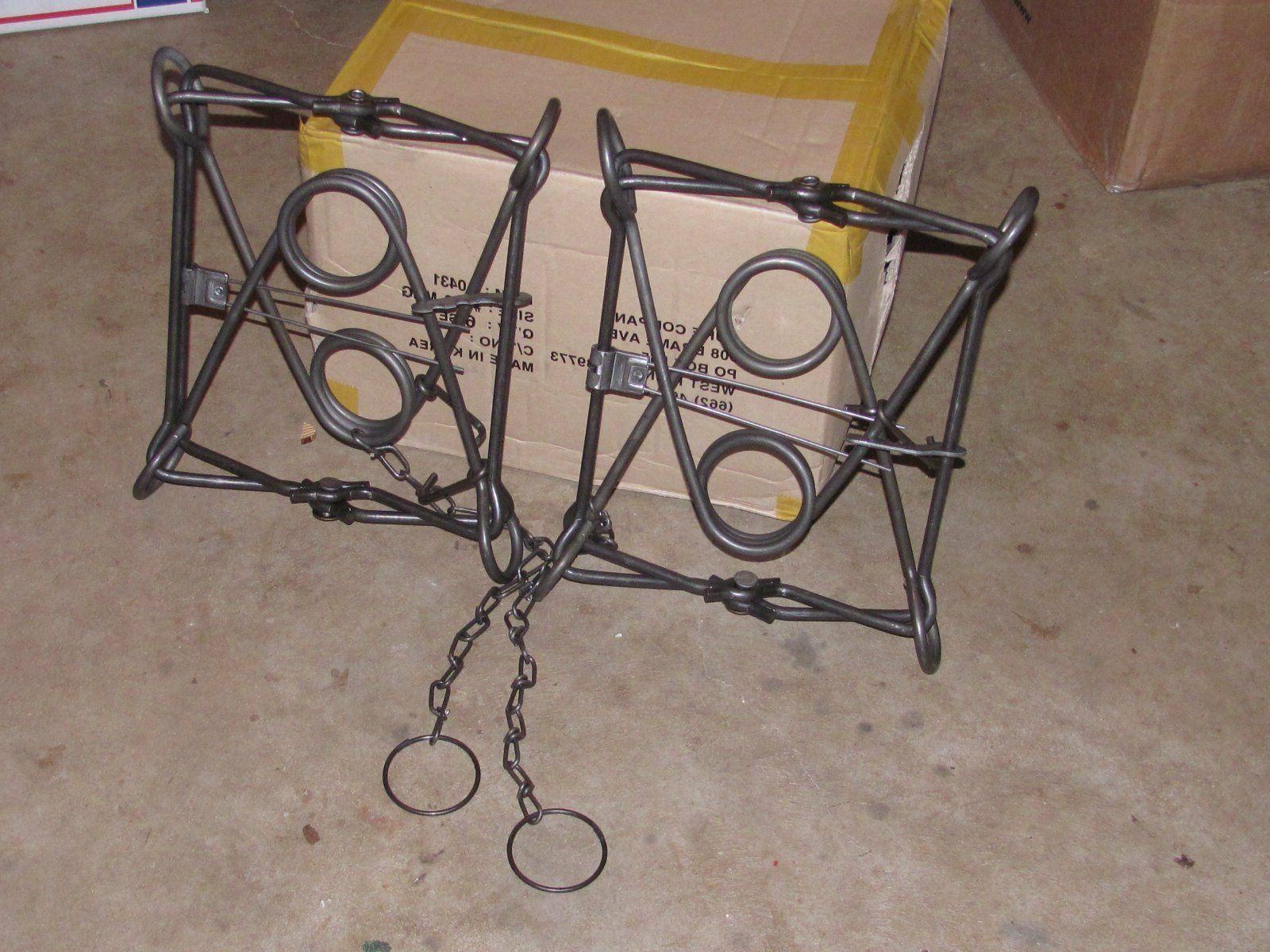 2 new 330 body traps animal body
