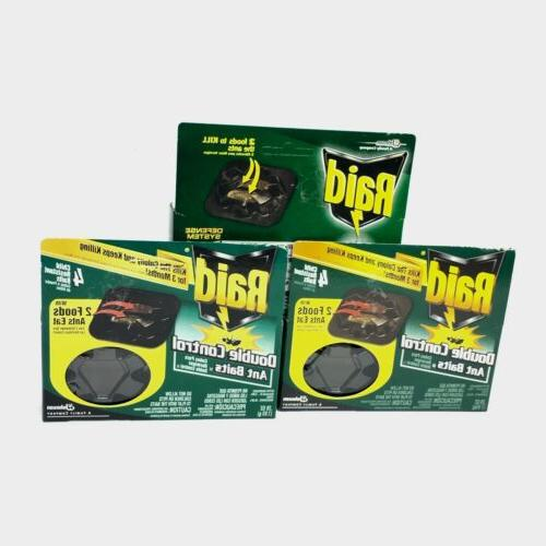 2 packs of Raid Double Control Ant Baits Relief from Severe