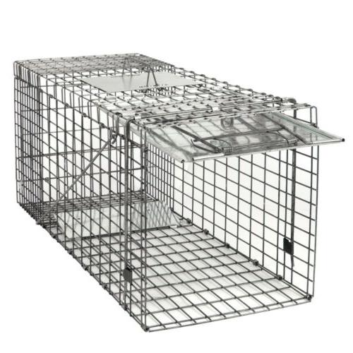 """Durable Steel Humane Animal Trap 32""""x12.5""""x12"""" Smoothed Insi"""