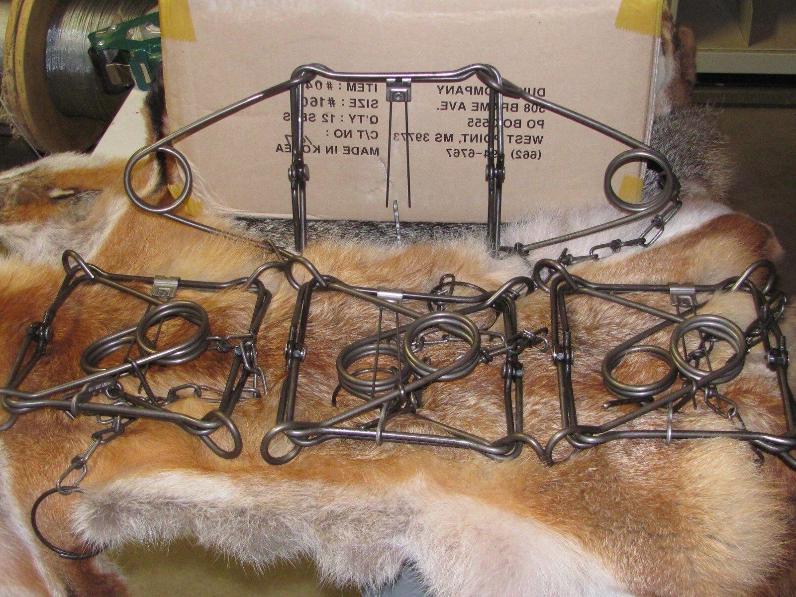 4 160 body traps raccoon muskrat mink
