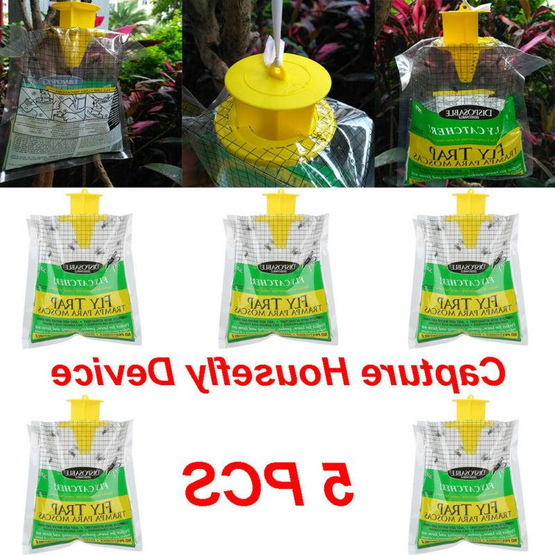 5x disposable fly trap catcher fly catcher