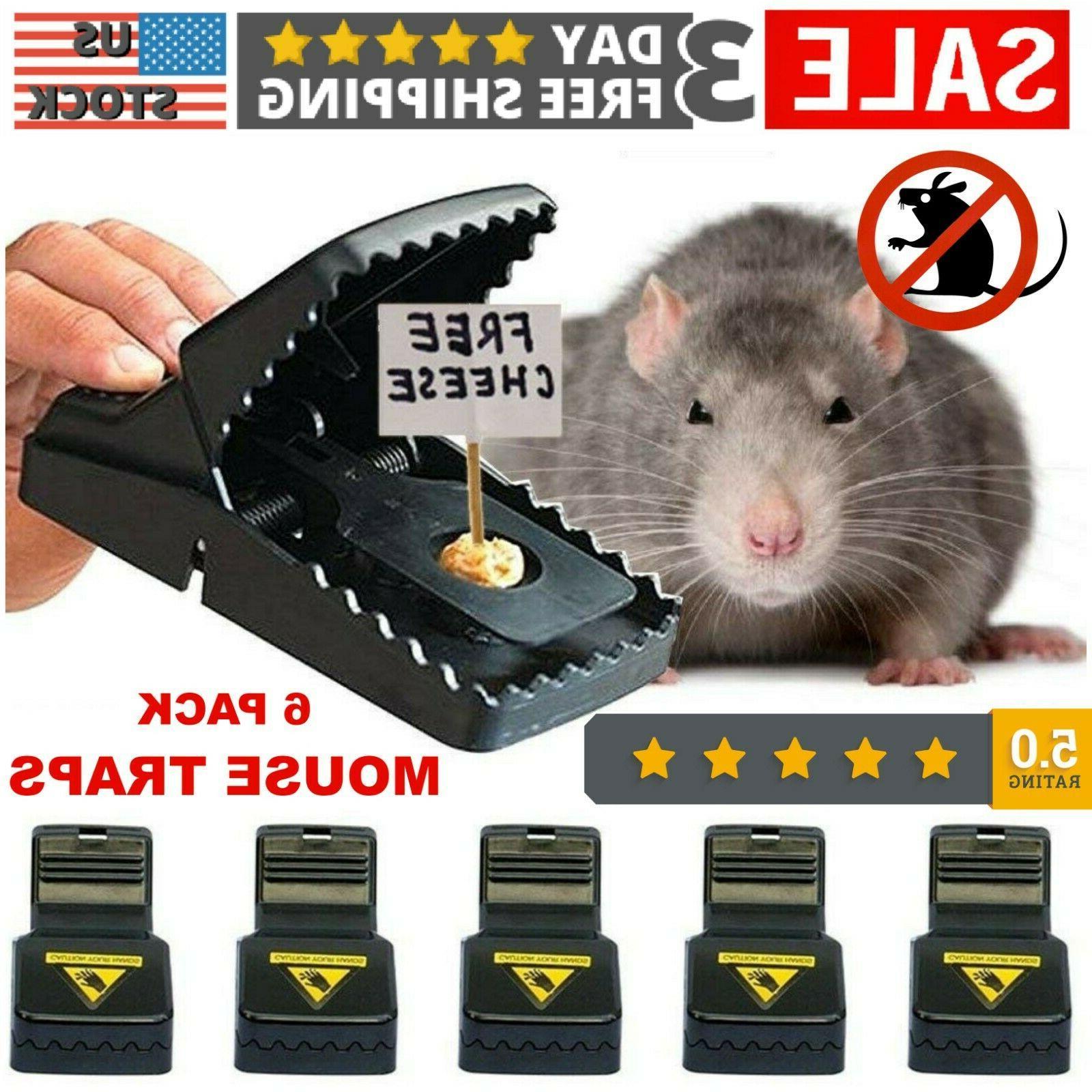 6 pack premium reusable mouse traps rat