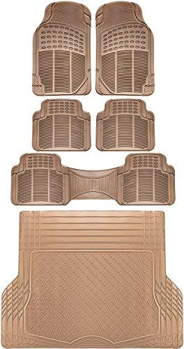 6pc full set ridged rubber floor mats