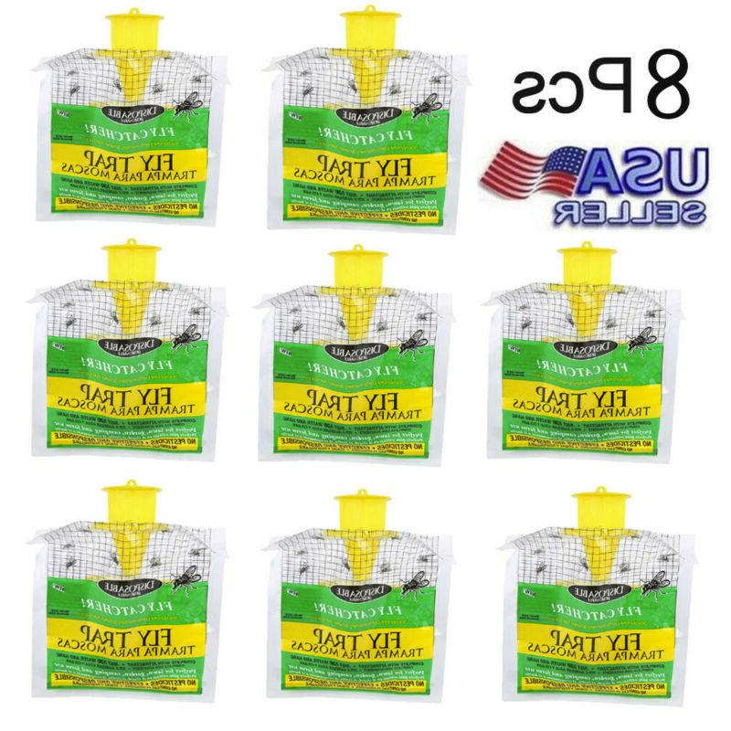 8x outdoor disposable fly catcher control trap