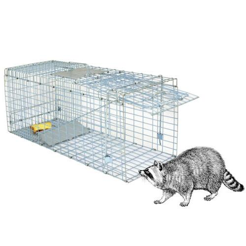 24x8x7.5 Humane Animal Trap Steel Cage Live Rodent Control S