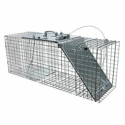easy set animal trap raccoons cats groundhogs