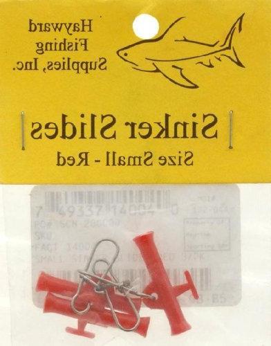 fishing supplies sinker slides red