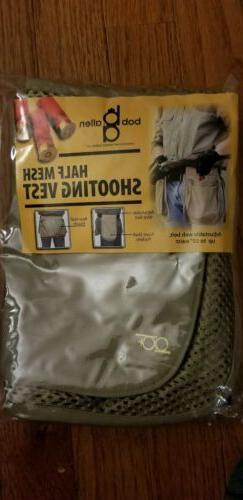 Bob Allen Half Mesh Shooting Vest Trap Skeet Clays Fits Up t