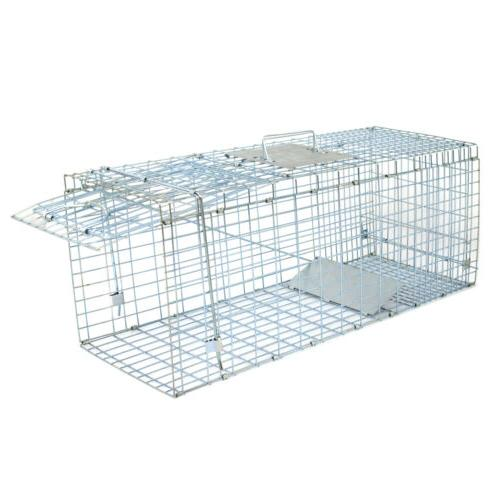 Humane Animal Trap Steel Cage Live Rodent Control Skunk Opossum