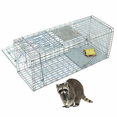 humane animal trap 32x12x12 steel cage live