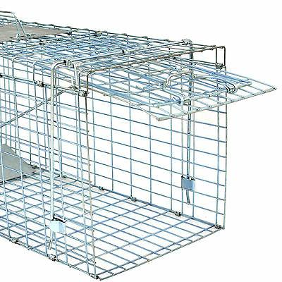 "Humane Control Steel Trap Cage 32""x12.5""x12"" Skunk Cat"