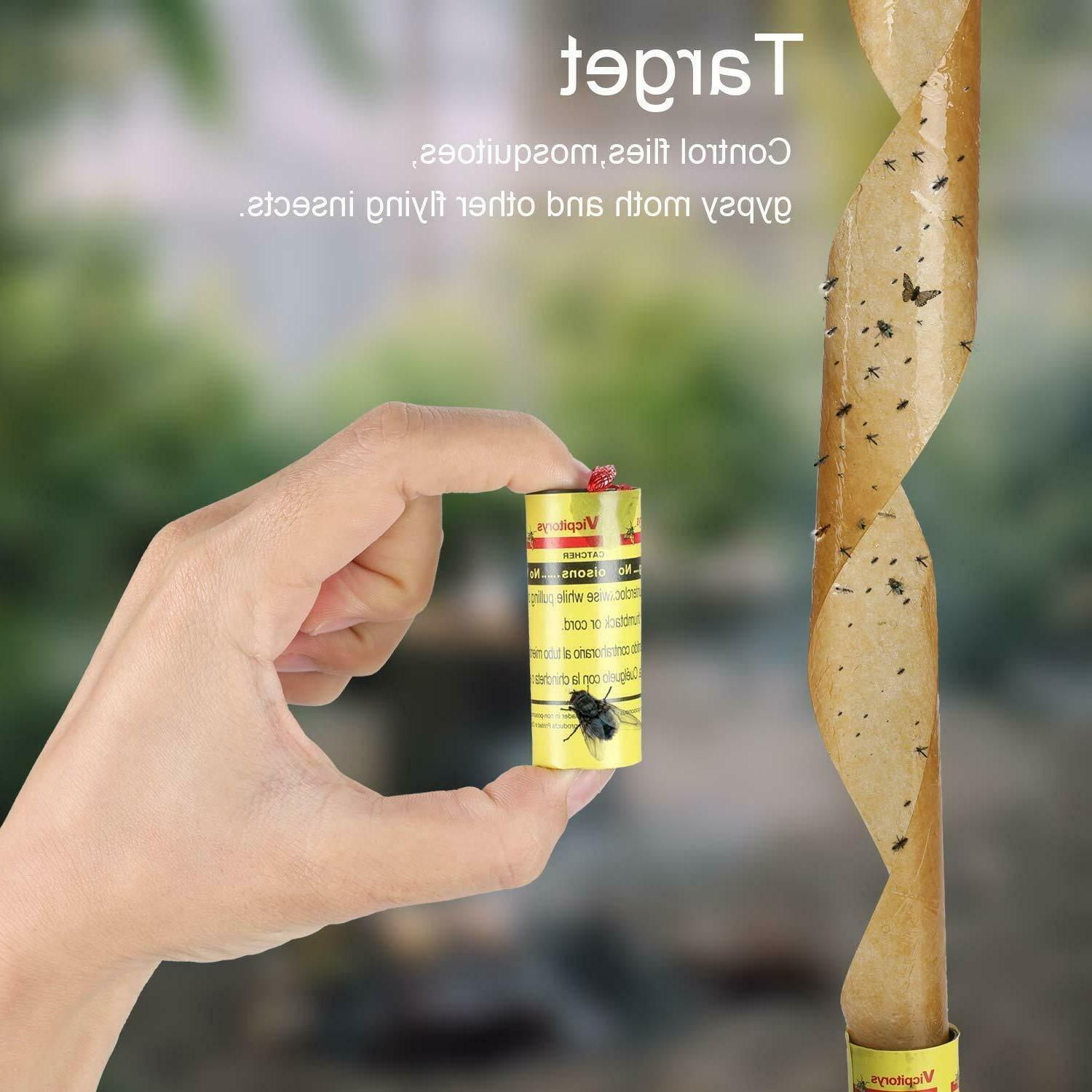 INSECT BUG FLY PAPER CATCHER TAPE STRIP ROLLS