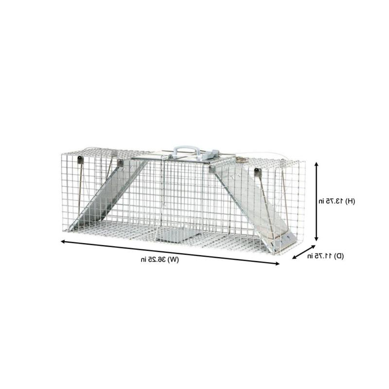 Large Set Live Cage Trap for Racoon, Opossum, and Gr
