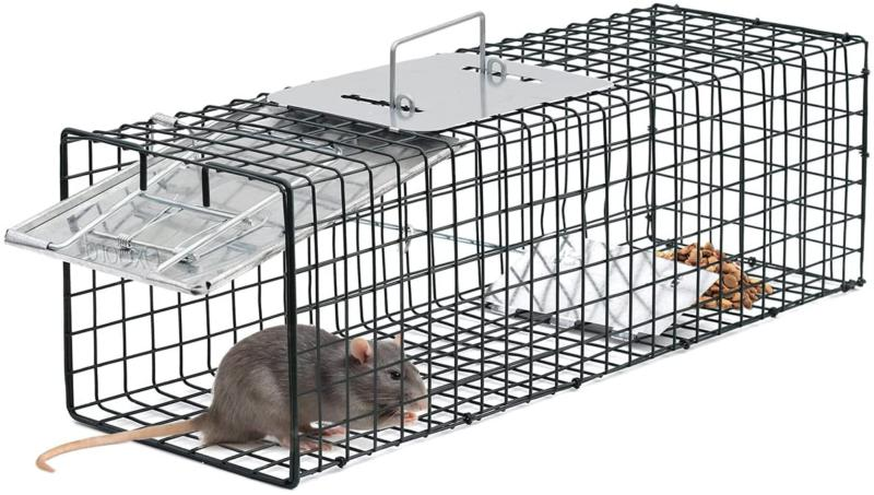 "Live Animal Trap 24"" x 7"" Humane Catch Cage Raccoon"