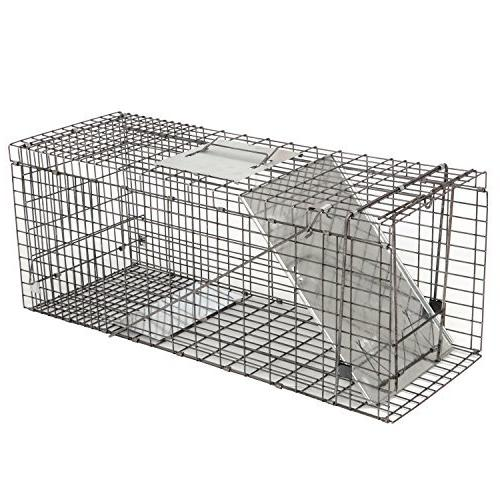 """HomGarden Live 32""""x12.5""""x12"""" Rodent Cage for Groundhog, Stray Cat, Squirrel, Raccoon, Mole, Chicken, Opossum, & Nuisance"""