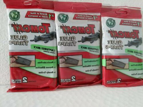 lot of 3 glue traps mouse traps