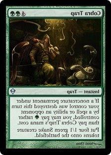 magic the gathering cobra trap 160 zendikar