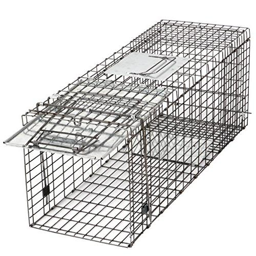 """HomGarden Live Animal Trap 32""""x12.5""""x12"""" Release Rodent Cage for Groundhog, Stray Raccoon, Opossum, Skunk Chipmunks Nuisance"""