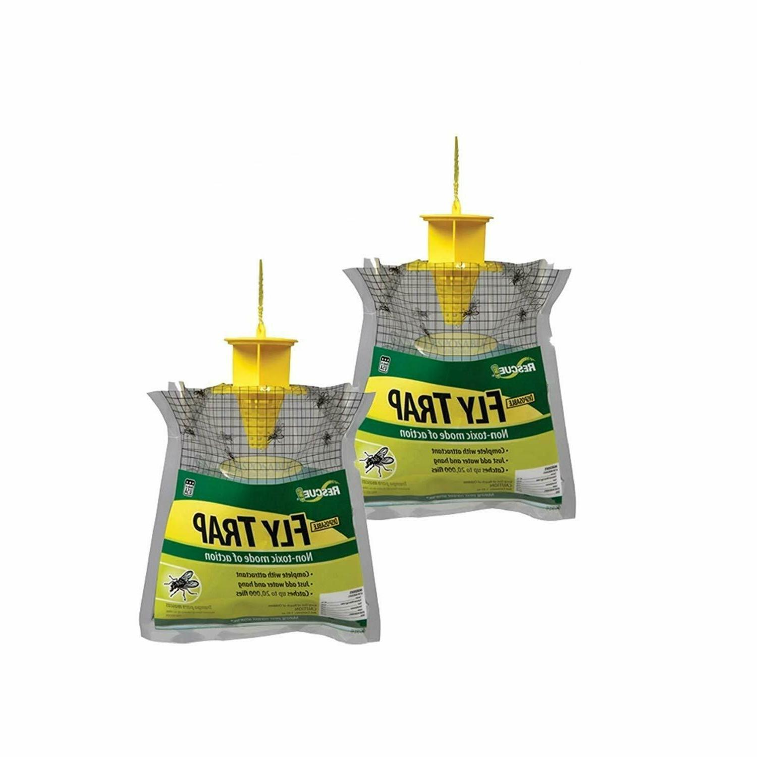 outdoor disposable fly trap 2 pack pest